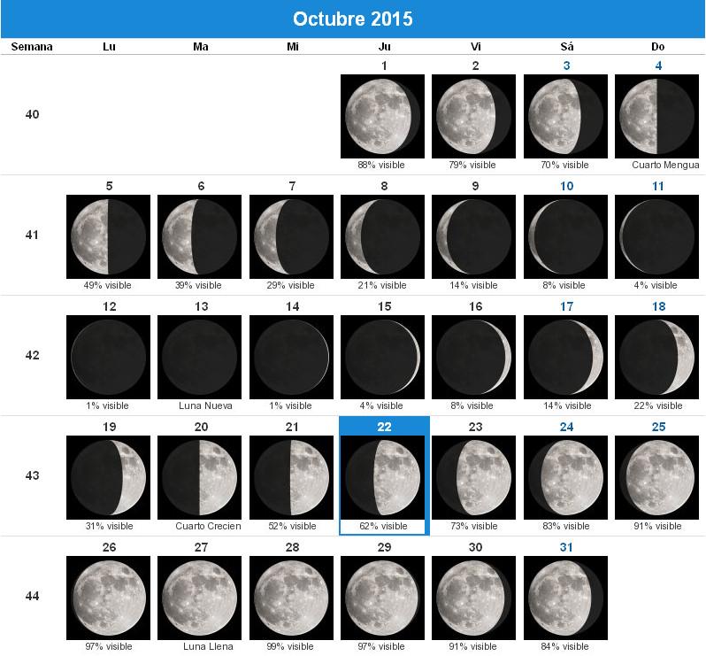 Luna llena octubre en 2015 new style for 2016 2017 Fase lunar octubre 2016