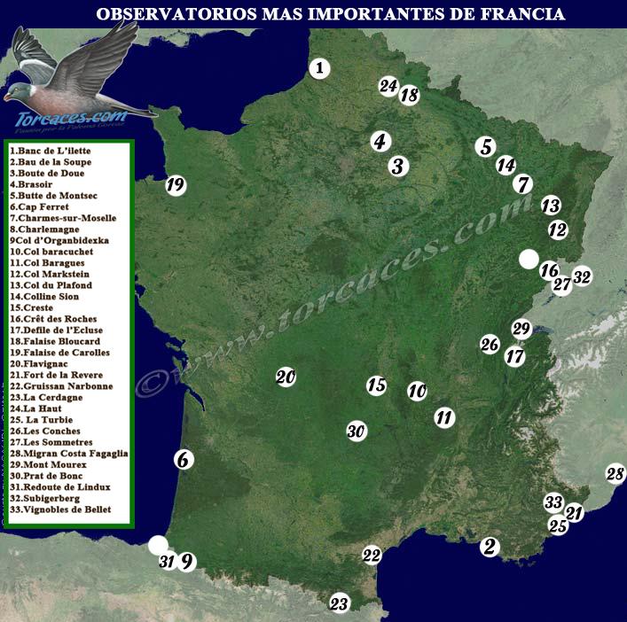 mapa de obsevatorios de migracion en francia